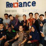 Kunjungan Mahasiswa Magister Manajemen Pascarajana FE-UM 2019 ke PT. Relience  Securities