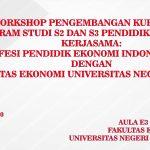 WORKSHOP PENGEMBANGAN KURIKULUM PROGRAM STUDI S2/S3 PENDIDIKAN EKONOMI   KERJASAMA:  ASOSIASI PROFESI PENDIDIK EKONOMI INDONESIA (ASPROPENDO)  DENGAN  FAKULTAS EKONOMI DAN BISNIS UNIVERSITAS NEGERI MALANG