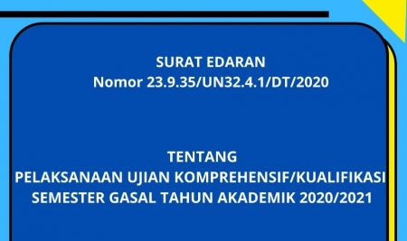 PENGUMUMAN UJIAN KOMPREHENSIF/KUALIFIKASI SEMESTER GASAL TAHUN AKADEMIK 2020/2021