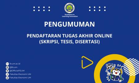 Pendaftaran Tugas Akhir Online (Skripsi, Tesis, Disertasi) Tahun 2021